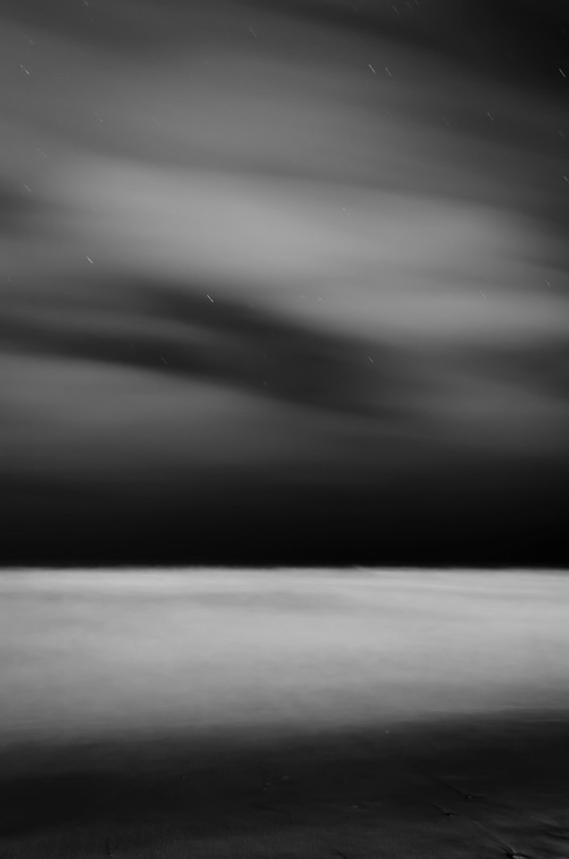 A view of the ocean at night. It was not much to look at until you realized what you were seeing. 174 seconds.